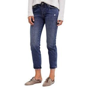 Brand New Free People Slim Boyfriend Jeans